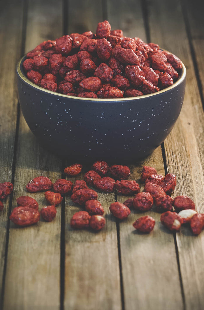 Red glazed peanut