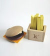 Wood Hamburger + Fries Instrument Set