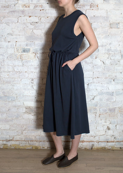 Washed Navy Jersey Alicia Dress