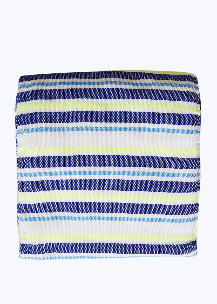 Navy/Neon Yellow Stripe Beach Blanket
