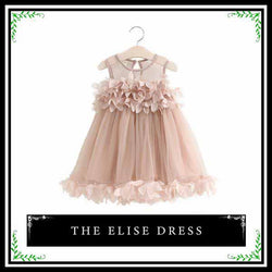 kid dress, trendy girl, toddler tulle dress, polyester, mesh, sleeveless, knee length, rosette design, formal, party, occasions, versatility, confidence, comfortable, blush pink