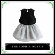 The Sophia Outfit | Stylish Toddler Girl Two Piece Skirt Set