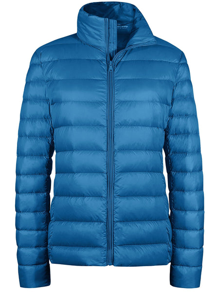 AcidBlue Women's Packable Down Jacket Short Lightweight Travel Jackets