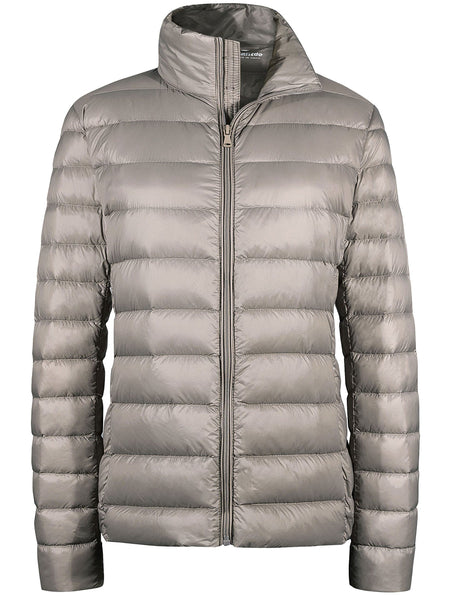 Dimtan Women's Packable Down Jacket Short Lightweight Travel Jackets
