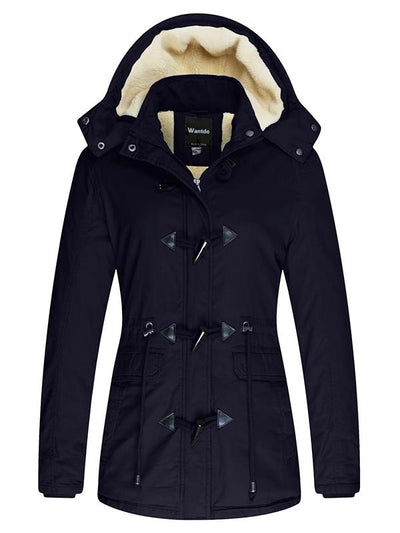 Women's Winter Jacket Thicken Cotton Coat with Removable Hood