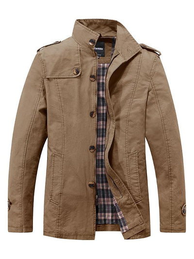 Men's Fall Casual Jackets - Military Style Stand Collar