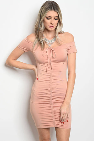 Ladies fashion short sleeve fitted bodycon dress that features a sweetheart neckline - Happy-Go-Cart