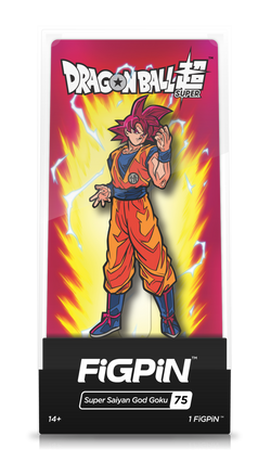 Dragon Ball Z FiGPiN Super Saiyan God Goku Collector Case #75