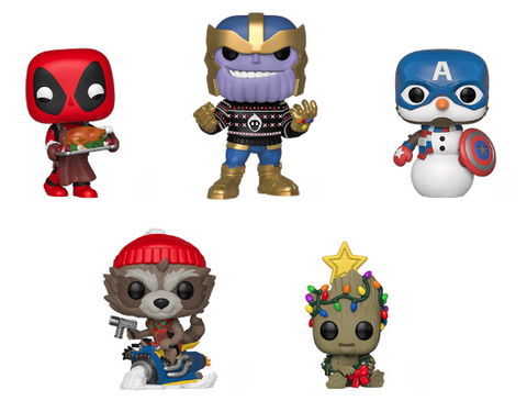Marvel Funko Pop! Complete Set of 5 Holiday 2019 (Pre-Order)