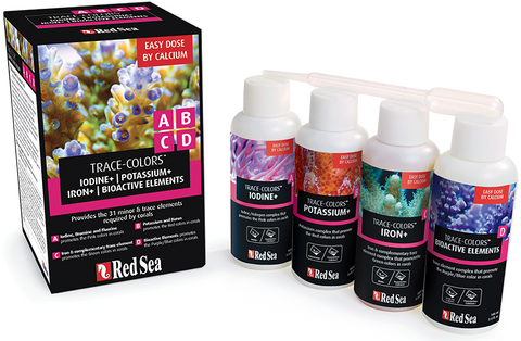 Red Sea Trace Colours ABCD (4 x 100ml bottles)