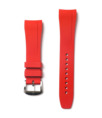 Integrated Rubber Strap For Yacht Master - Red