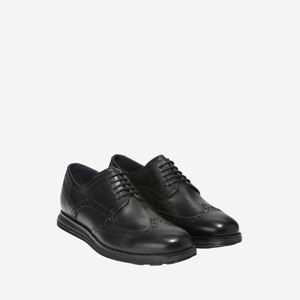 Men's Original Grand Wingtip Oxford Lace Up Shoe Black/Black