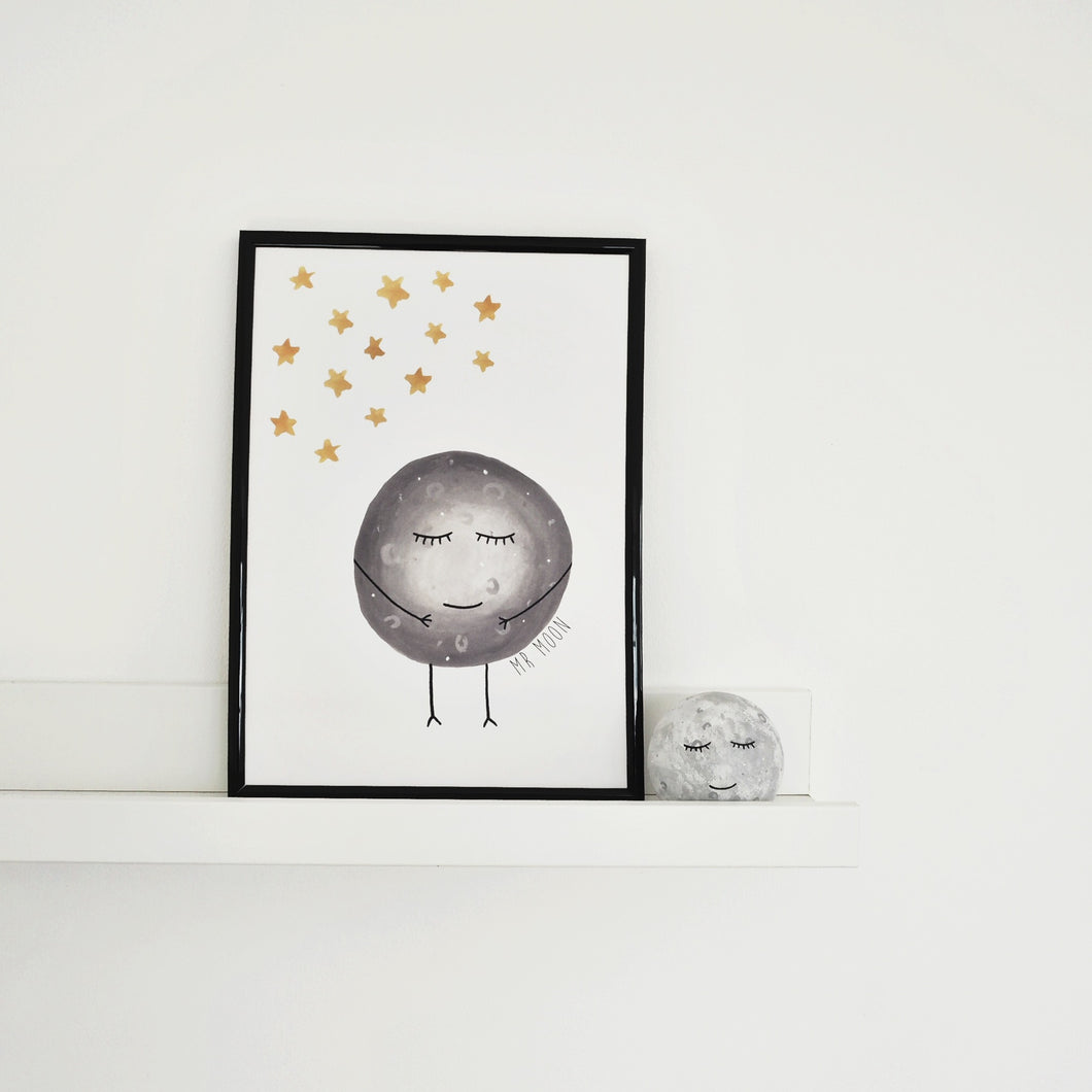 moon print for childrens rooms