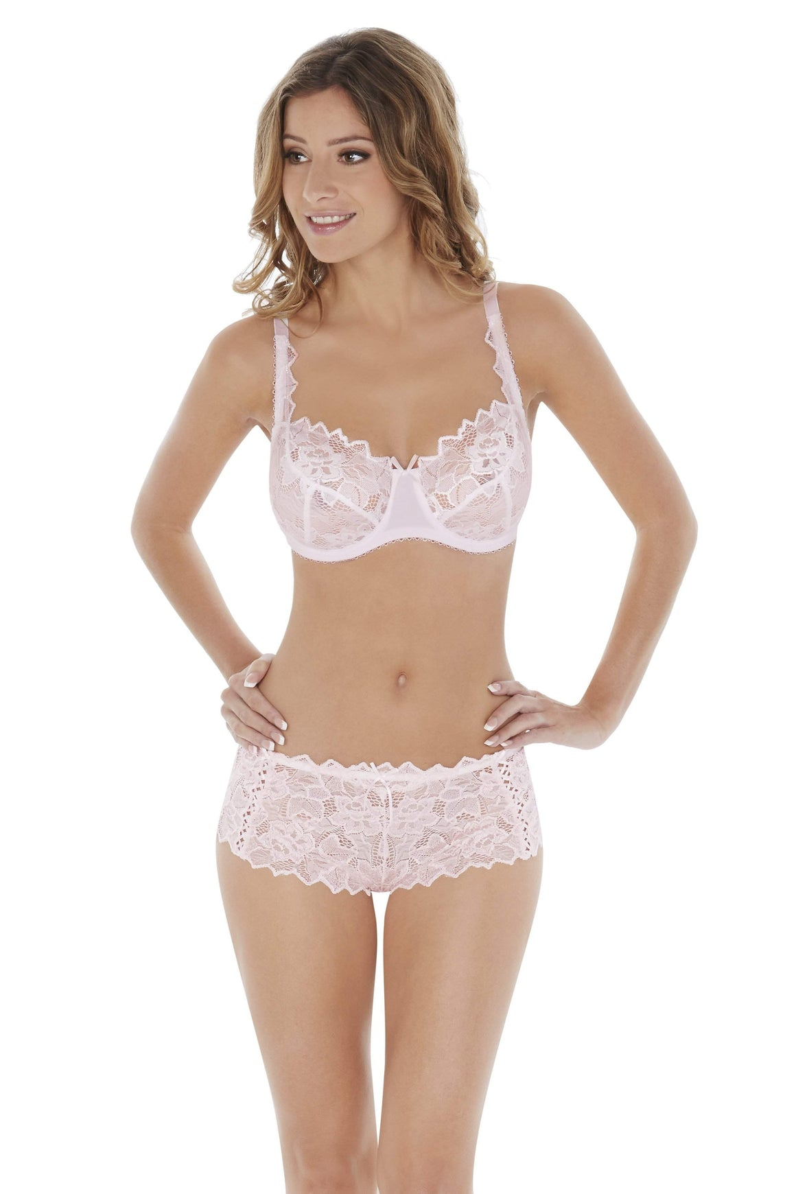 Fiore Shorts in Soft Pink by Lepel - Charnos / Lepel - Katys Boutique Lingerie USA
