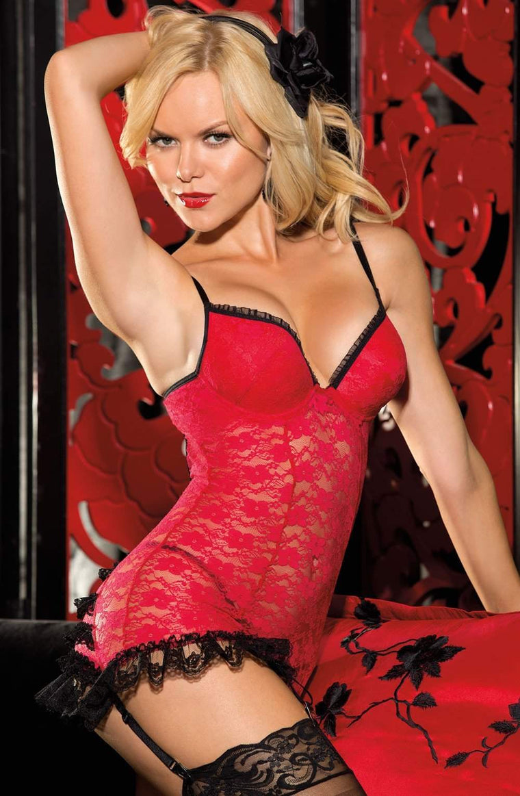 SoH 25214 Red/Black - Shirley of Hollywood - Katys Boutique Lingerie USA
