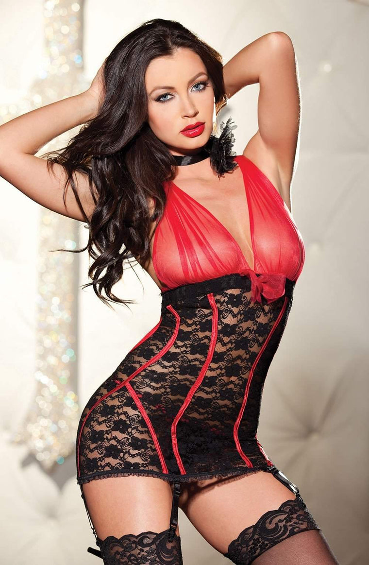 SoH 25235 Red/Black - Shirley of Hollywood - Katys Boutique Lingerie USA