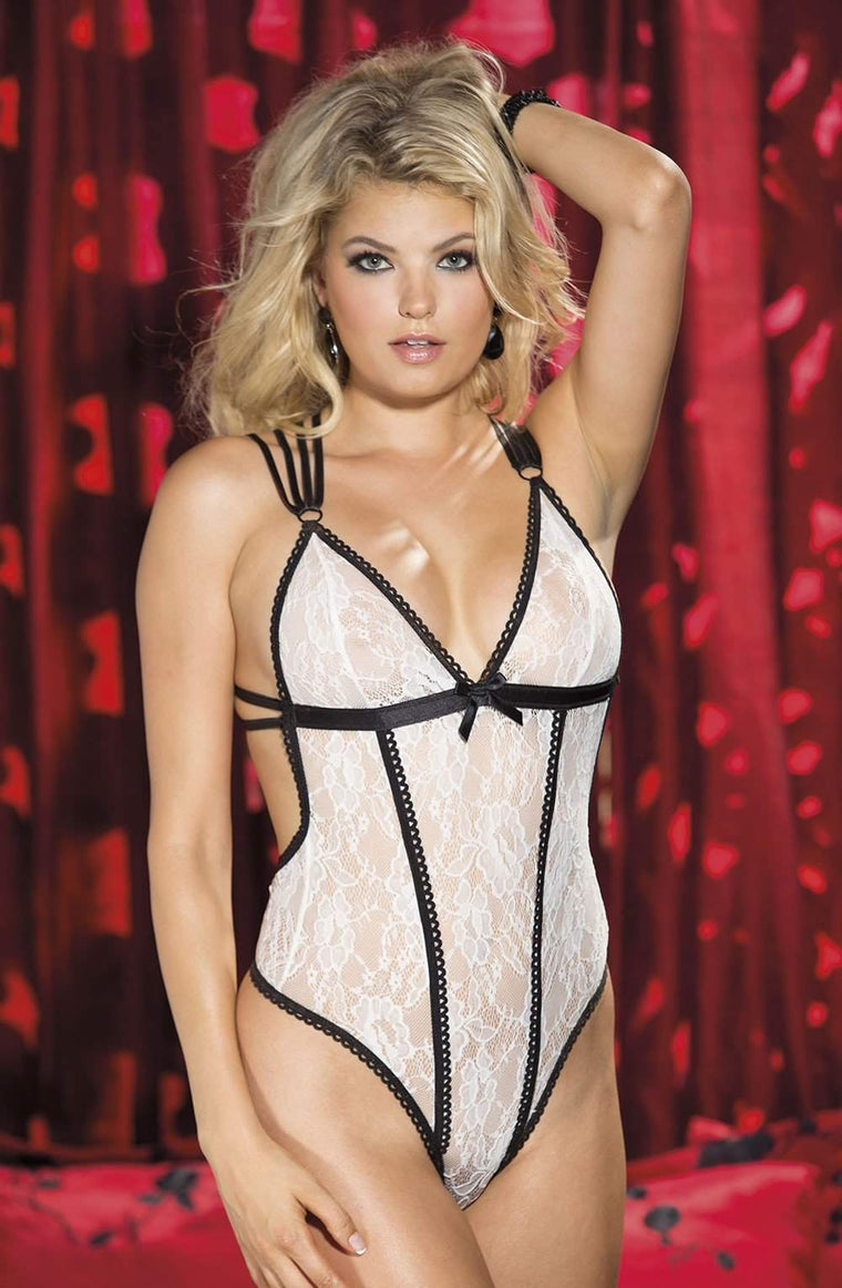 SoH 25482 Teddy Ivory - Shirley of Hollywood - Katys Boutique Lingerie USA
