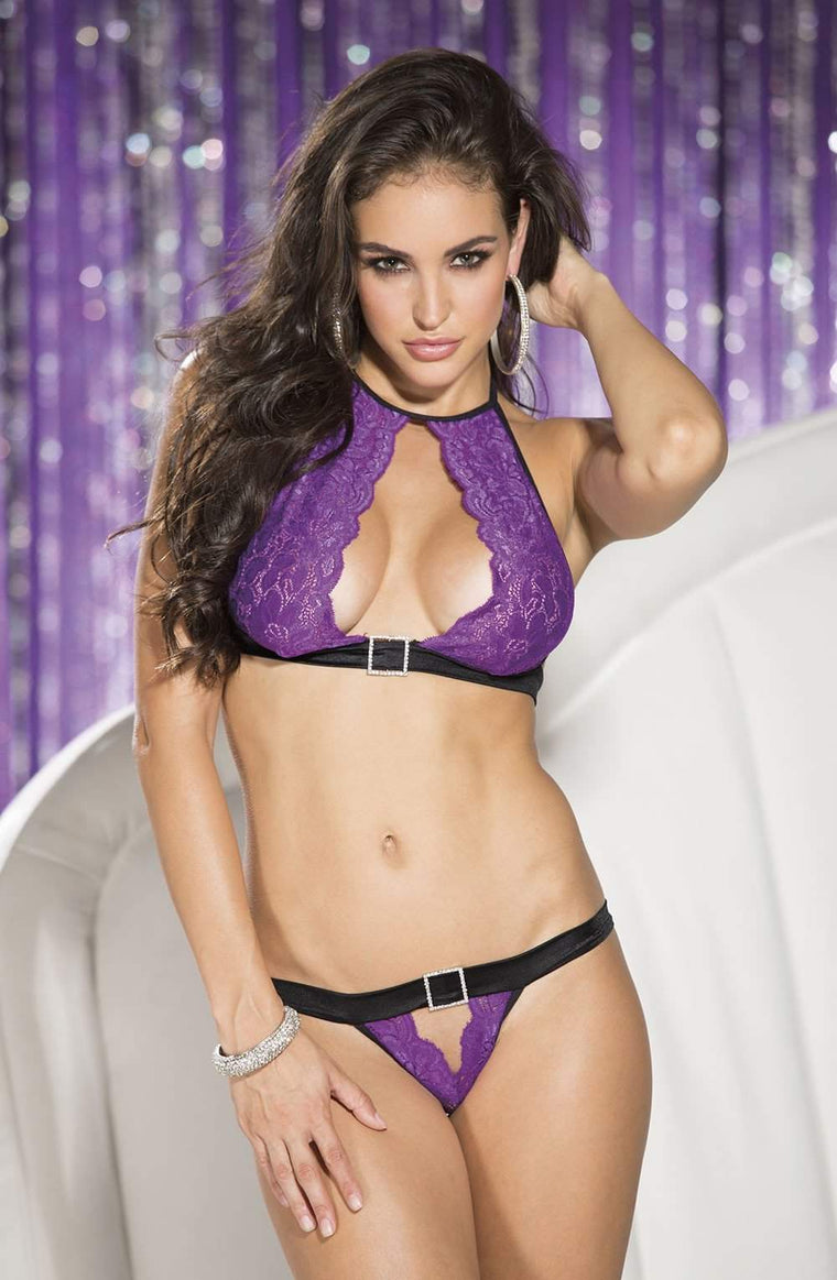 SoH 25513 2pc Set Purple - Shirley of Hollywood - Katys Boutique Lingerie USA
