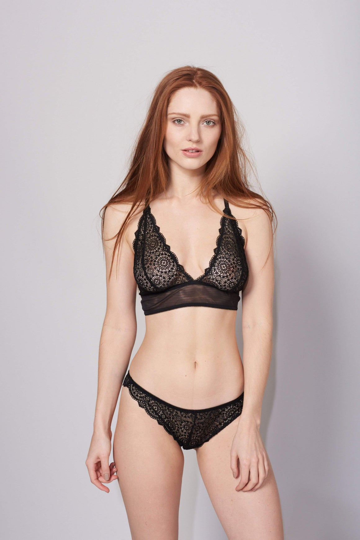 Sophia Triangle Bra in Black by Lepel London - Charnos / Lepel - Katys Boutique Lingerie USA