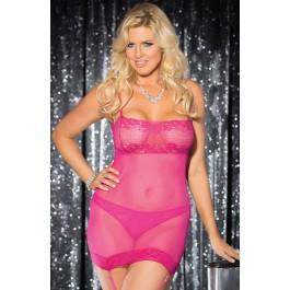 SoH-VIA X31040 Plus Size Pink - Shirley of Hollywood - Katys Boutique Lingerie USA