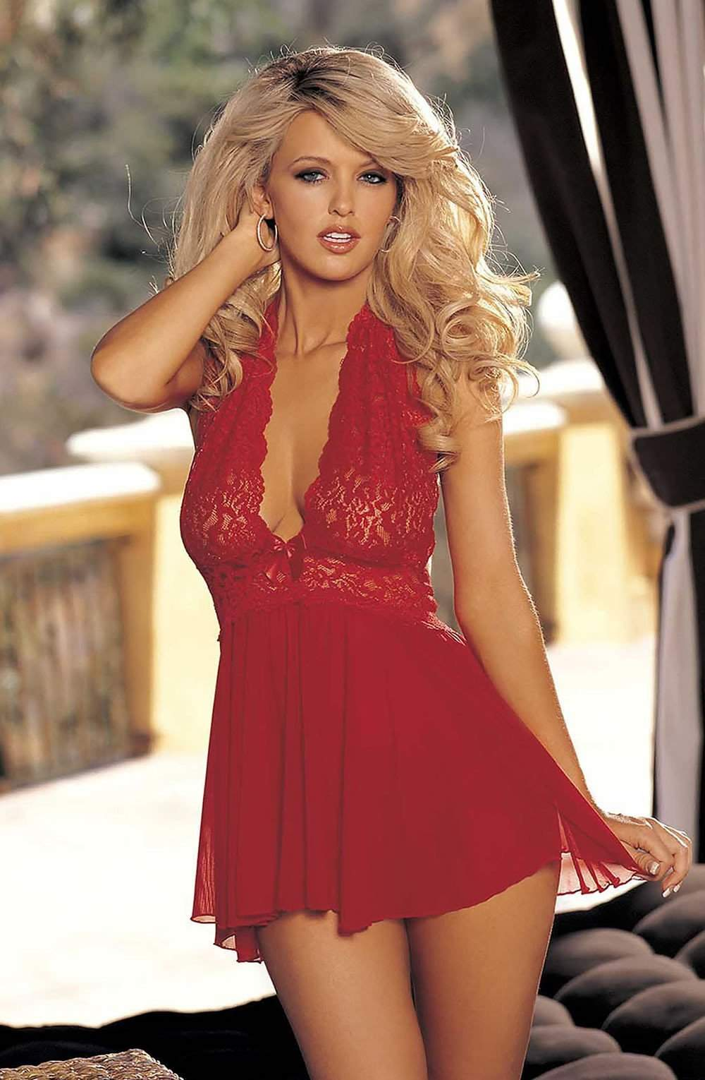 96164 Babydoll in Red by Shirley of Hollywood - Shirley of Hollywood - Katys Boutique Lingerie USA
