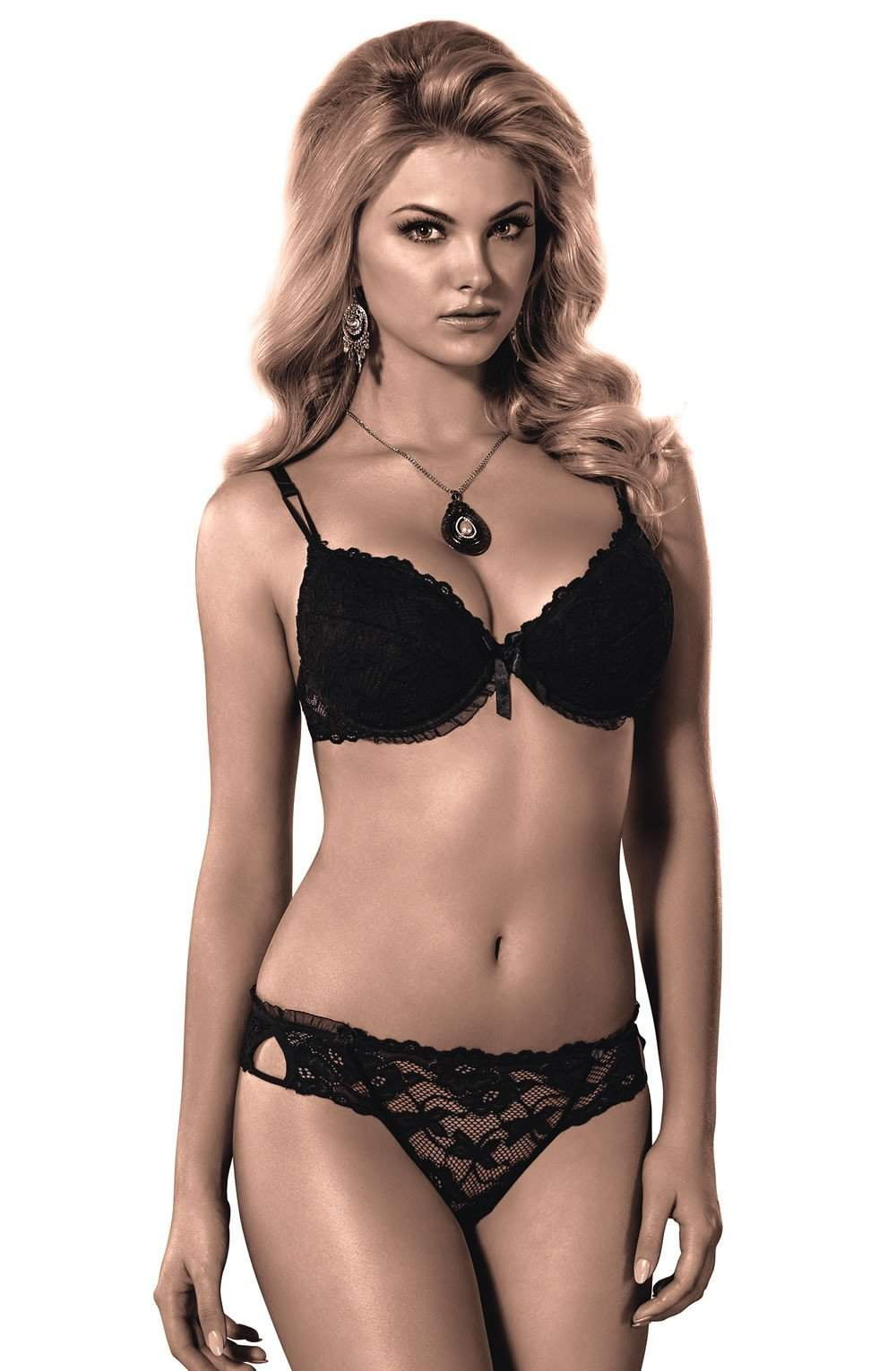 Carmen Bra In Black by Roza - Roza - Katys Boutique Lingerie USA