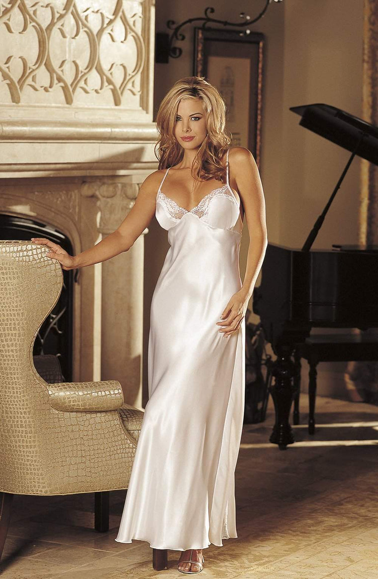 20300 Nightdress in White by Shirley of Hollywood - Shirley of Hollywood - Katys Boutique Lingerie USA