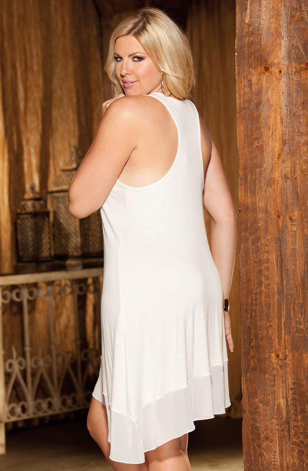 X3252 Nightdress in Ivory by Shirley of Hollywood - Shirley of Hollywood - Katys Boutique Lingerie USA