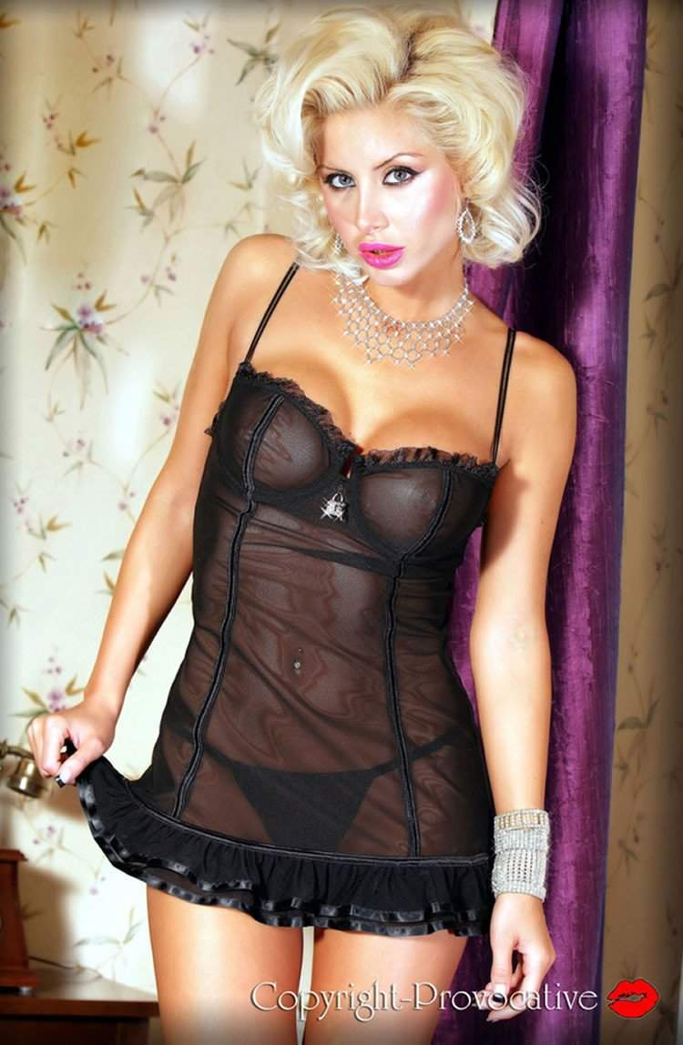 Soiree Intime Chemise by Provocative - Provocative - Katys Boutique Lingerie USA