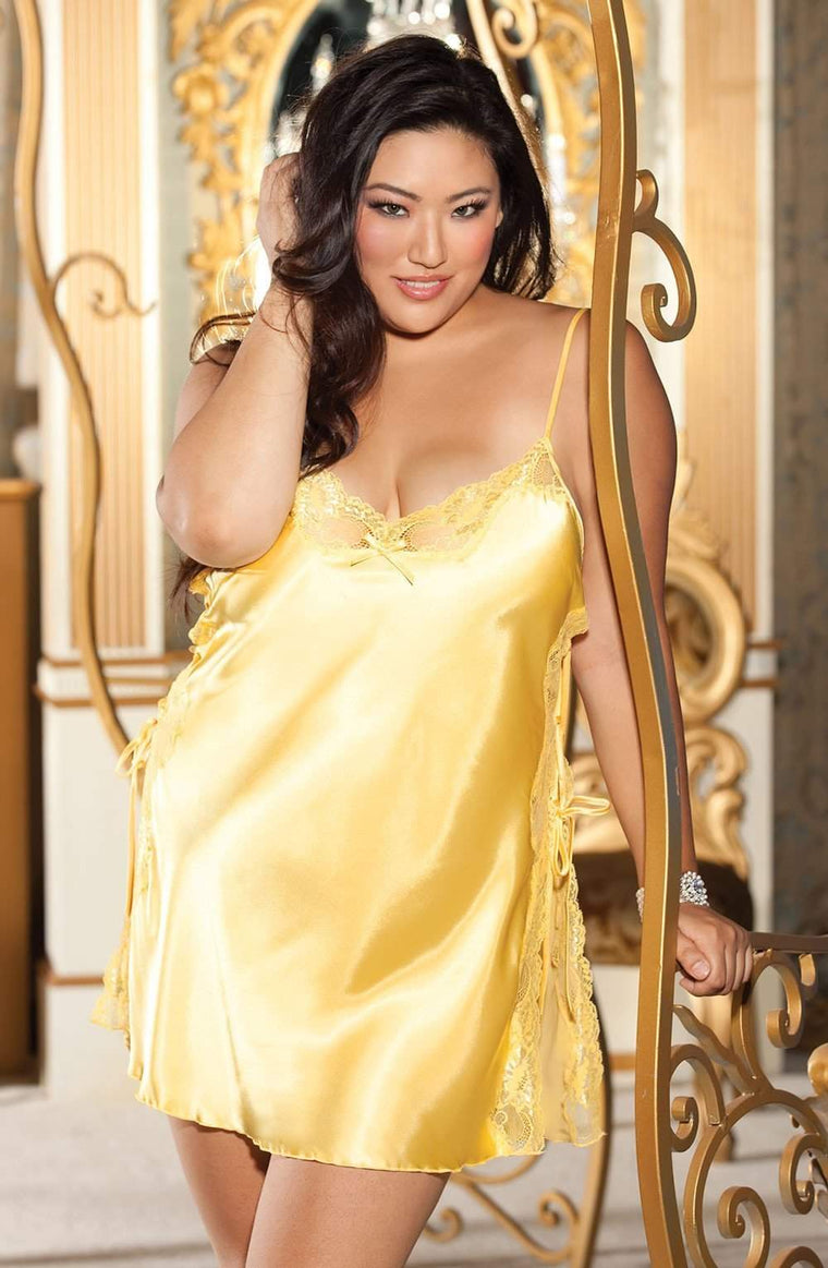 X20015 Chemise in Buttercup Yellow by Shirley of Hollywood - Shirley of Hollywood - Katys Boutique Lingerie USA