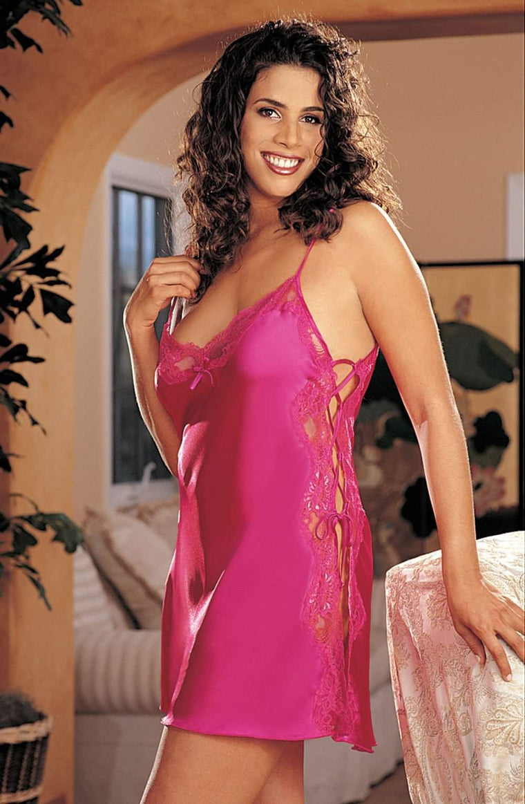 X20015 Chemise in Passion Pink by Shirley of Hollywood - Shirley of Hollywood - Katys Boutique Lingerie USA