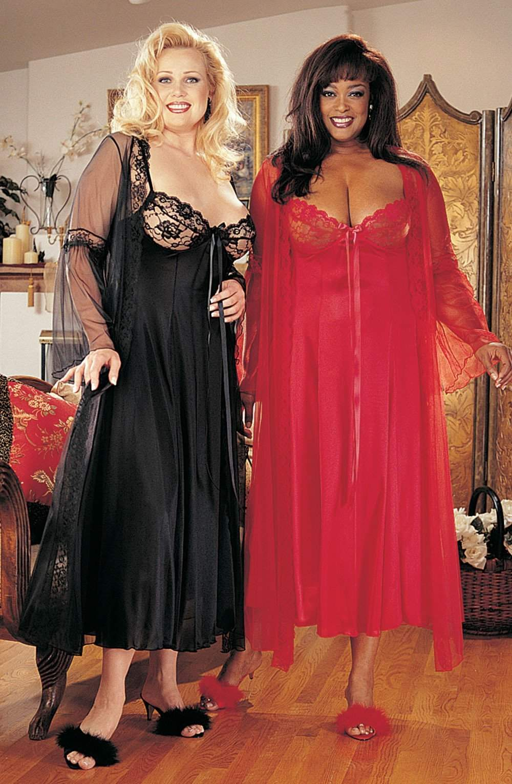 X3489 Gown in Red by Shirley of Hollywood - Shirley of Hollywood - Katys Boutique Lingerie USA
