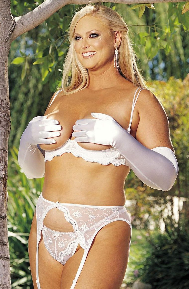 X10 Thong in White by Shirley of Hollywood - Shirley of Hollywood - Katys Boutique Lingerie USA