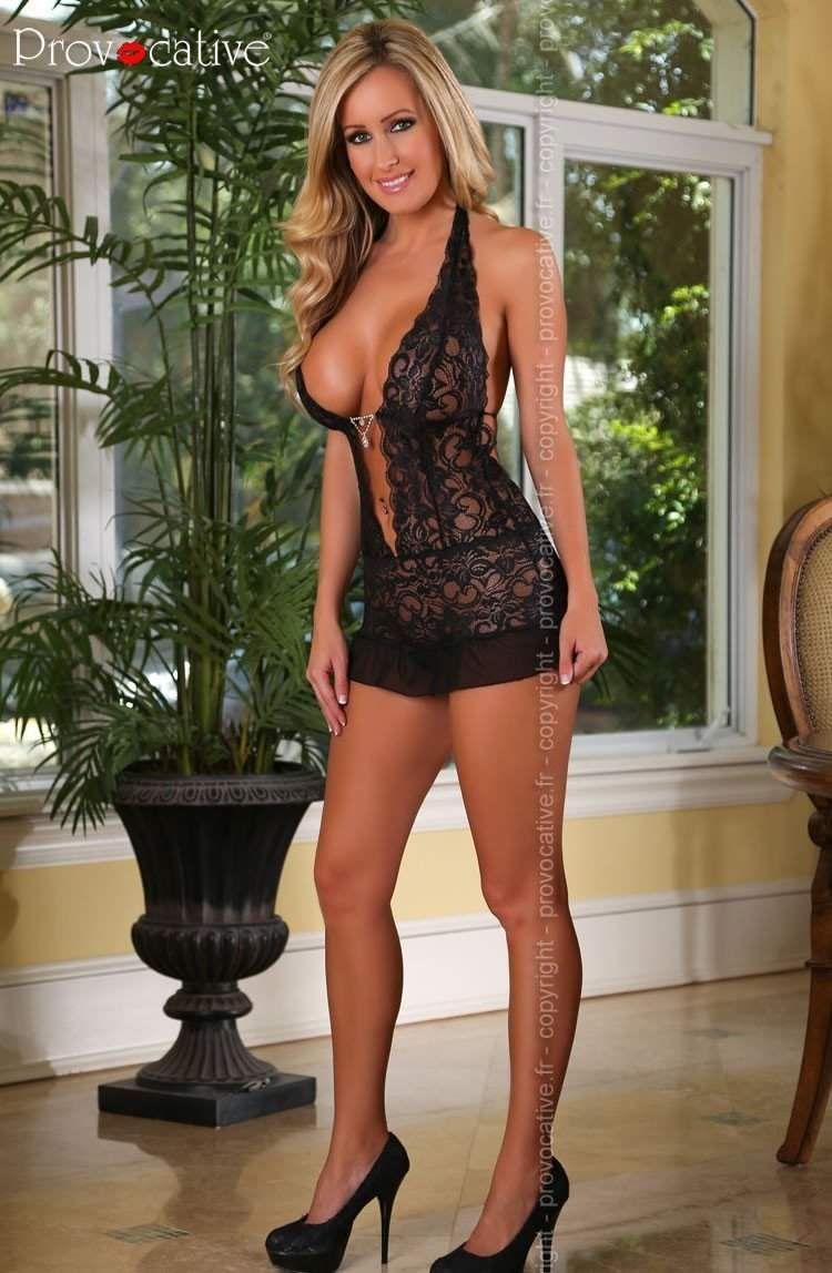Mambo Chemise in Black by Provocative - Provocative - Katys Boutique Lingerie USA