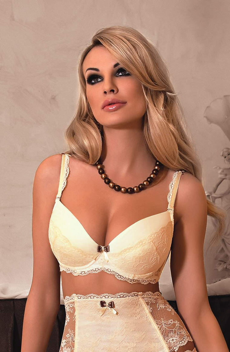 Fifii Push Up Bra In Ivory by Roza - Roza - Katys Boutique Lingerie USA