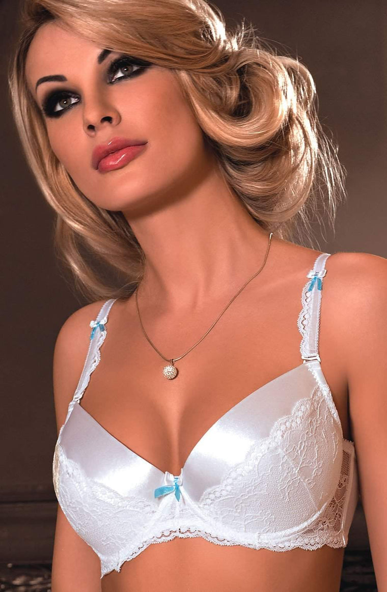 Fifii Push Up Bra In White by Roza - Roza - Katys Boutique Lingerie USA