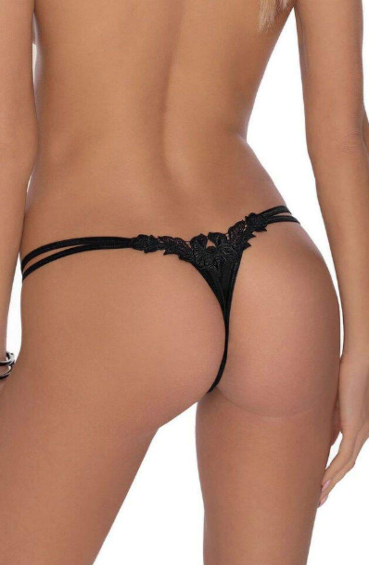 Agnez Thong In Black by Roza - Roza - Katys Boutique Lingerie USA