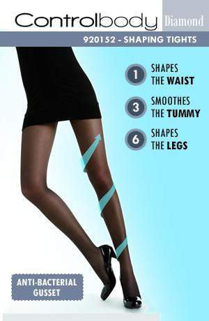 70 Denier Micro Compression Tights by Control Body - Control Body - Katys Boutique Lingerie USA