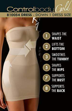Shaping Dress - Medium Support by Control Body - Control Body - Katys Boutique Lingerie USA