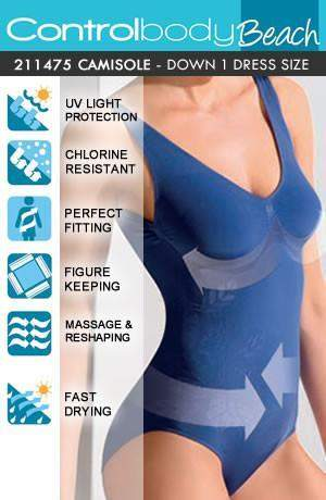 Shaping Swimming Costume by Control Body - Control Body - Katys Boutique Lingerie USA