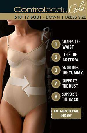 Strappy Body - Firm Support by Control Body - Control Body - Katys Boutique Lingerie USA