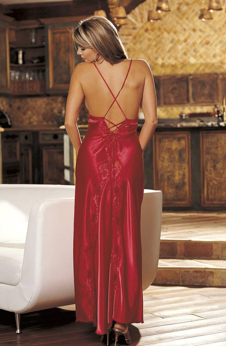 20300 Nightdress in Red by Shirley of Hollywood - Shirley of Hollywood - Katys Boutique Lingerie USA