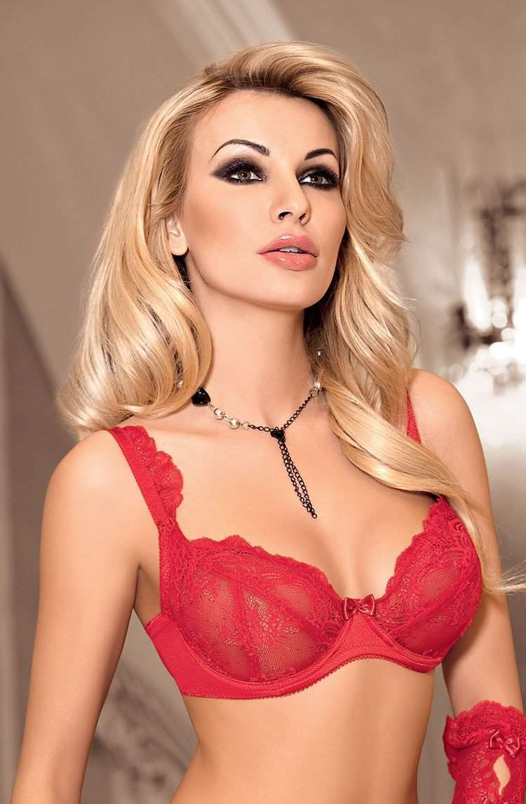 Ambre Soft Cup Bra In Red by Roza - Roza - Katys Boutique Lingerie USA