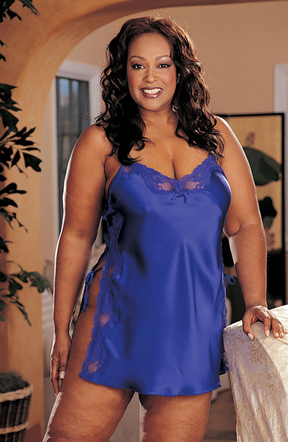 X20015 Chemise in Electric Blue by Shirley of Hollywood - Shirley of Hollywood - Katys Boutique Lingerie USA