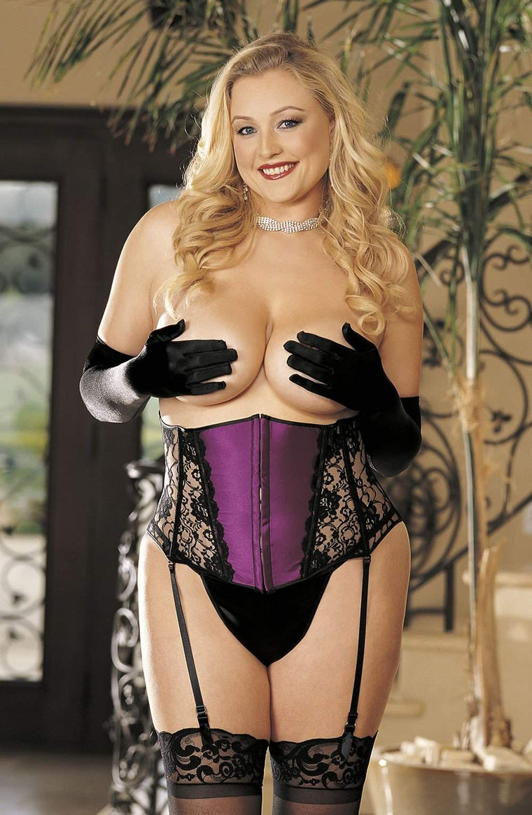 SoH-IA X623 Corset Berry - Shirley of Hollywood - Katys Boutique Lingerie USA