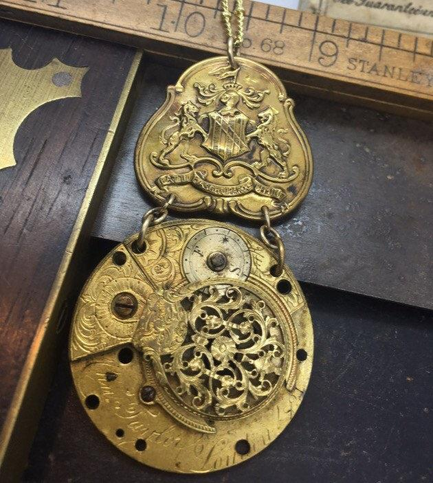 The Watchmaker Series Fusee Steampunk Necklace #13