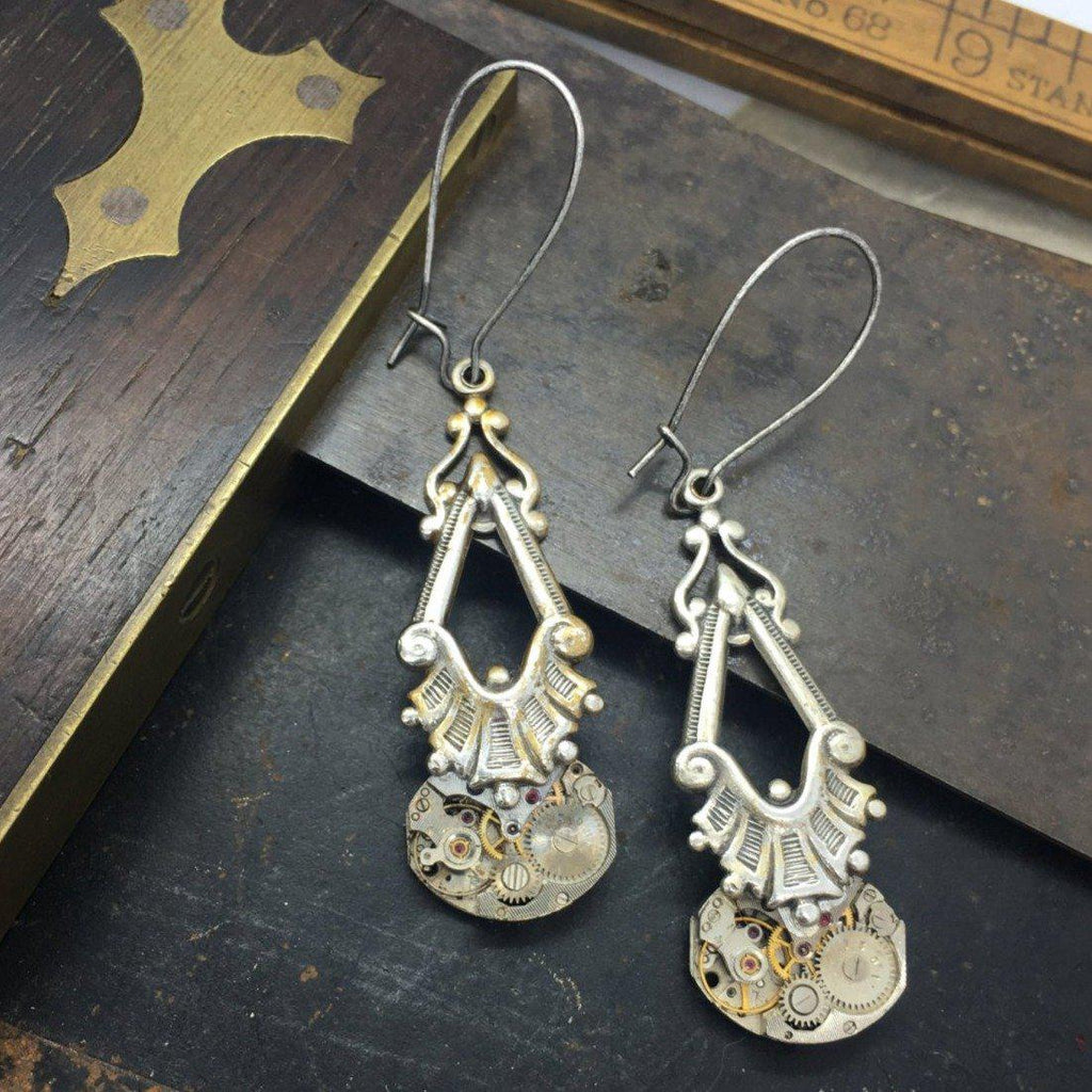Eloise, Art Deco Dangle Earrings