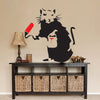 Banksy Rat Removable Vinyl Wall Stickers