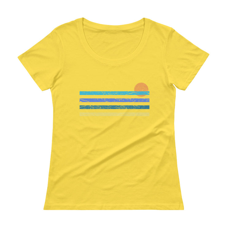 Sunset Women's Scoopneck T-Shirt