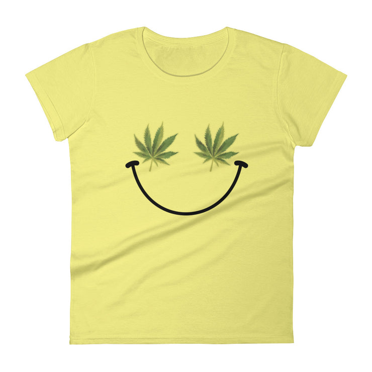 Weed Smiley Women's T-Shirt